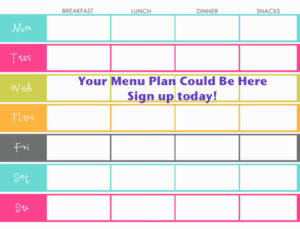 time saving personal menu planning service with step by step recipe