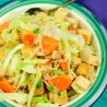 TOFU, TEMPEH & OTHER PROTEIN:  Tempeh with Vegetables & Sauerkraut