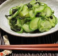 SEA VEGETABLES:  Wakame-Cucumber Pressed Salad